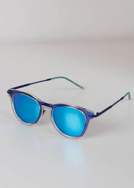 Türkisblaue Spiegelbrille
