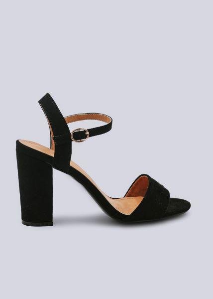 Sandaletten mit Blockabsatz, schwarz