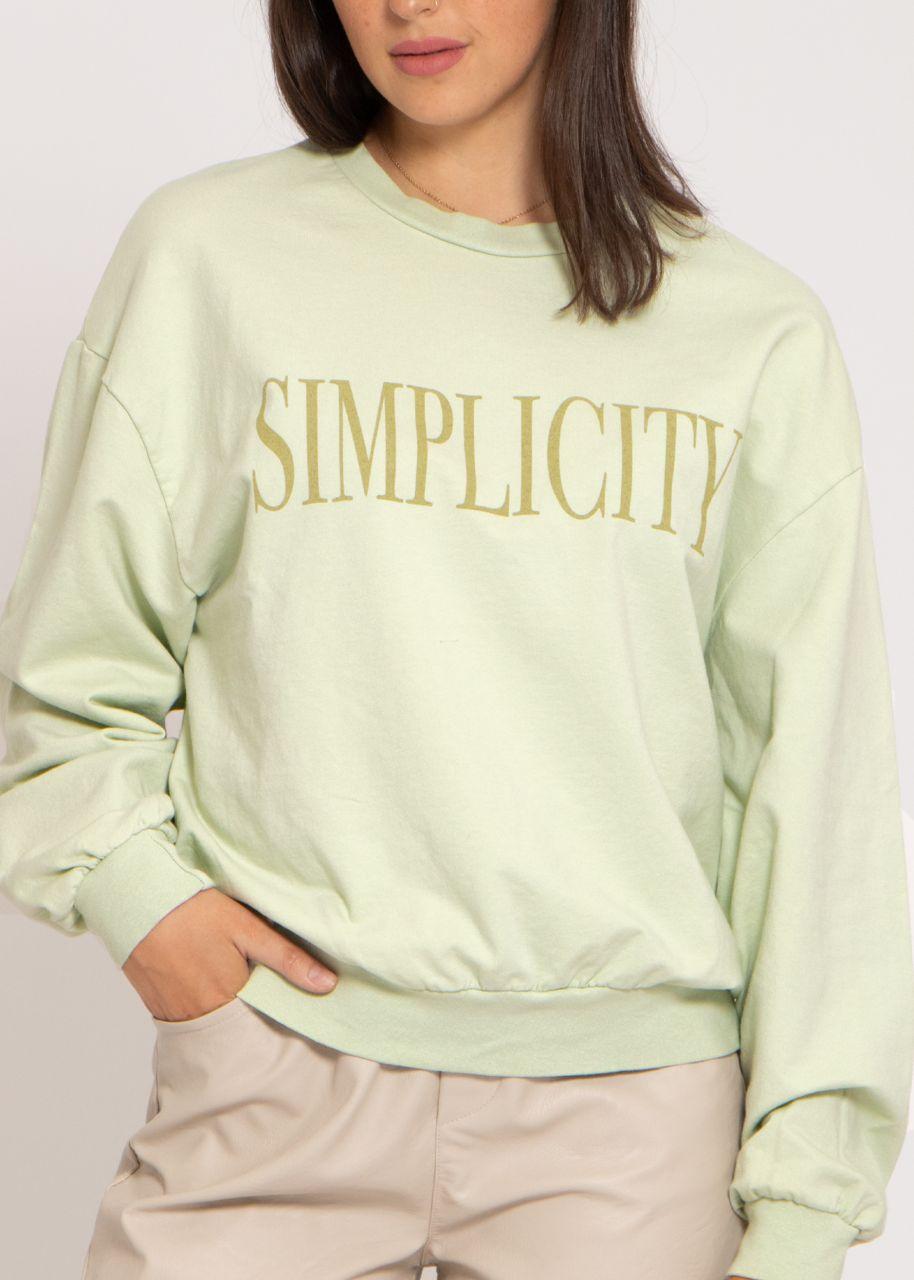 Loungeshirt SIMPLICITY, grün