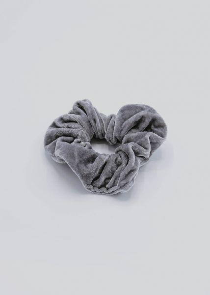Scrunchie aus Velvet, grau