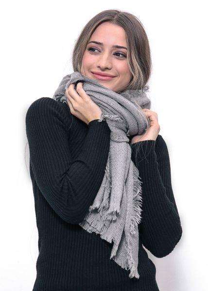 Softer Schal, grau