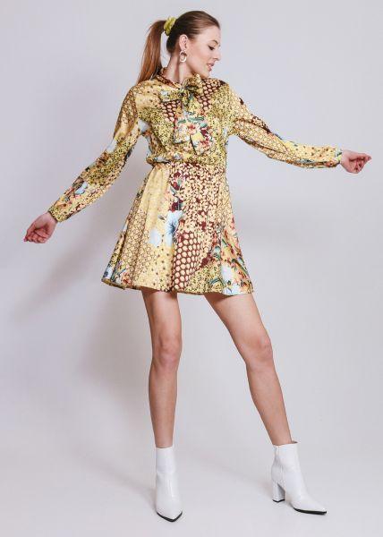 Kleid mit Blumenprint, gelb