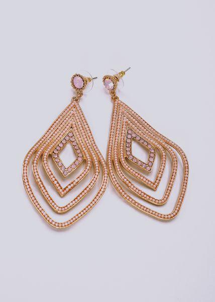 Ohrstecker mit rosa Perlchen, gold