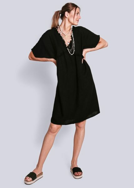 Oversize Strandkleid, schwarz