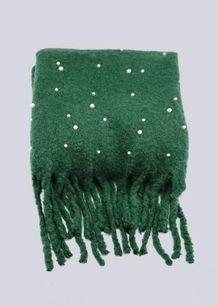 Perlenschal, grün