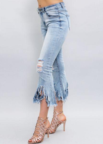 Destroyed Jeans mit Schlag