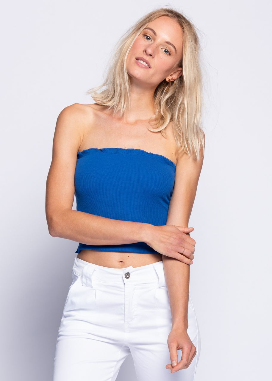 Bandeau-Shirt, royalblau