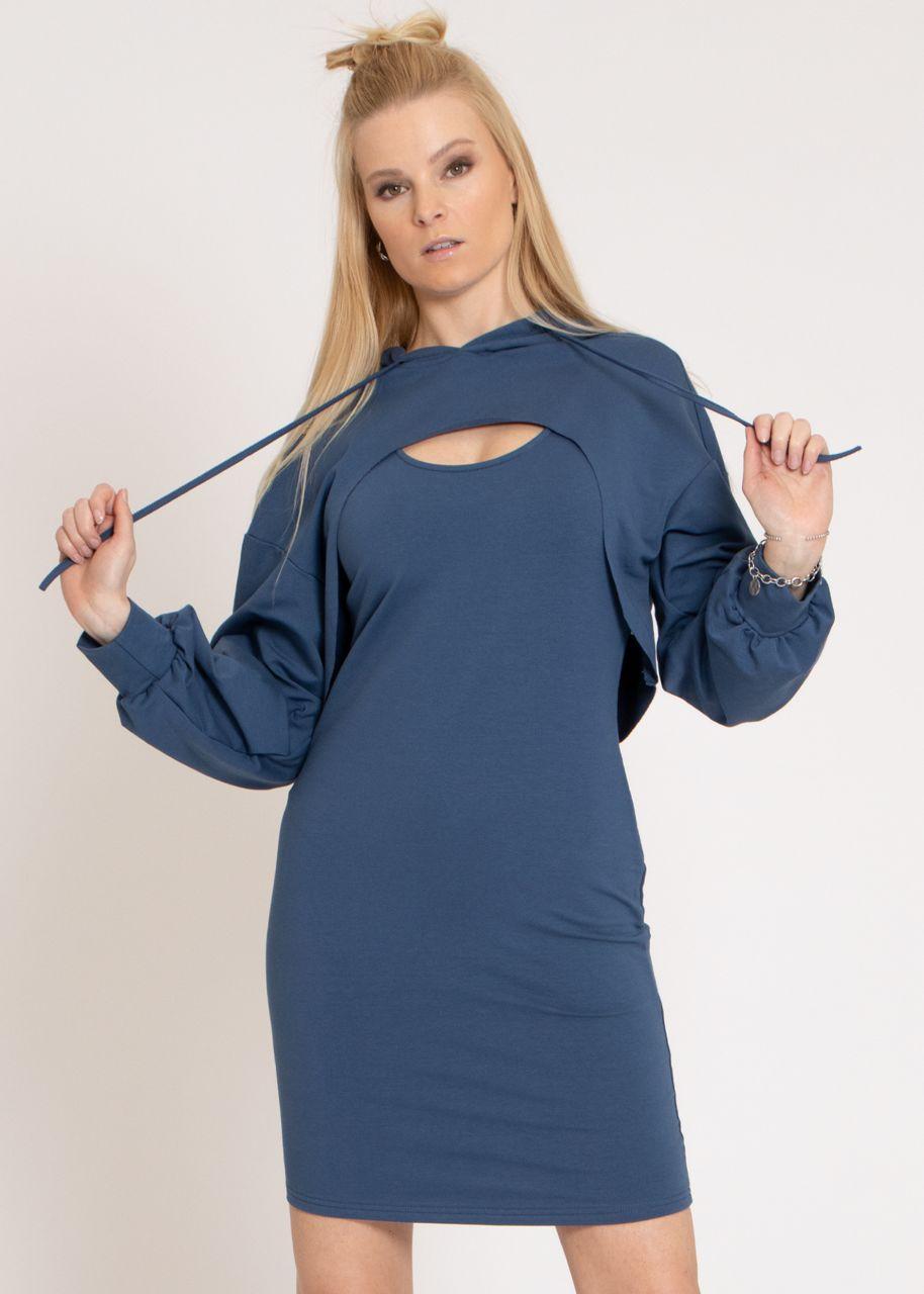 2-teiliges Lounge-Dress, blau