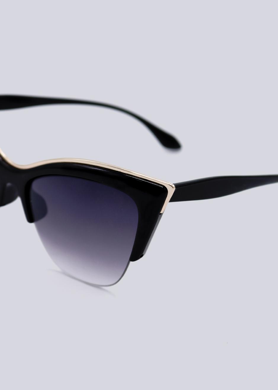 b9e6c377b7c4cc ... schwarz · Vorschau: Cat-Eye Sonnenbrille mit gold Akzent, ...