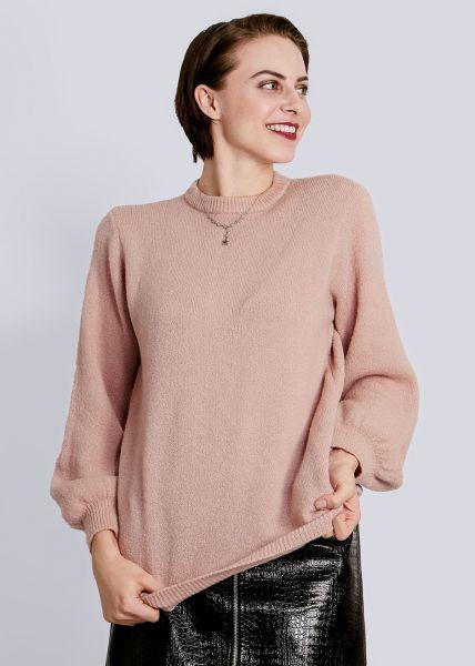 Pullover mit weitem Arm, rosa