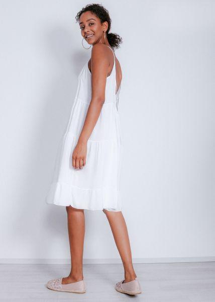 Oversize Hängerchenkleid mit Rückenausschnitt, weiß