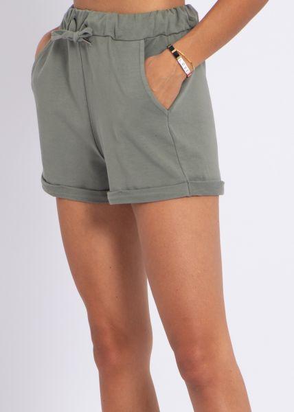 Shorts aus Jersey, khaki