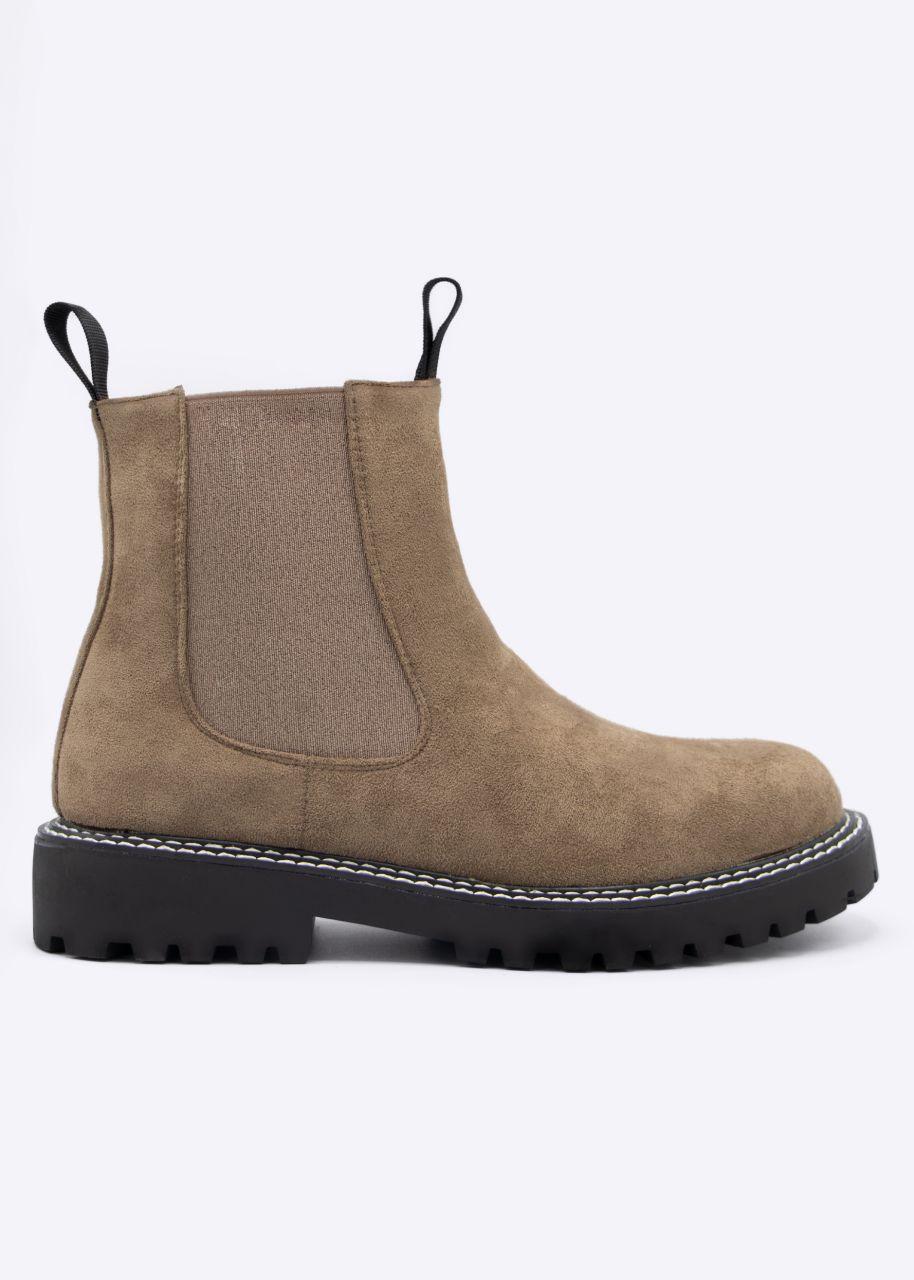 Chelsea-Boots, beige