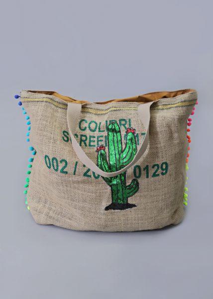 XXL-Shopper mit Kaktus