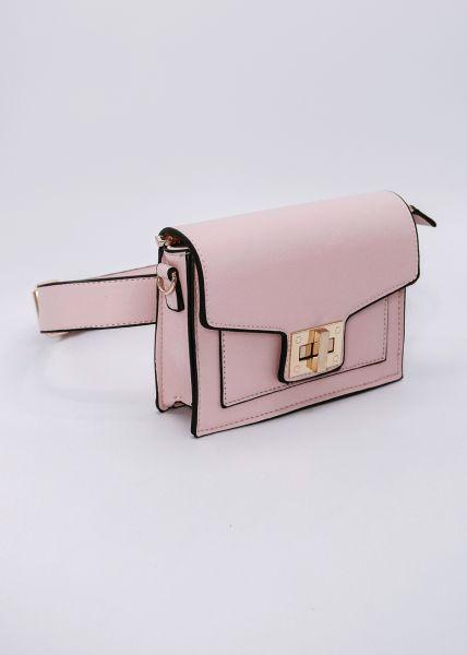 Gürteltasche / Tasche mit gold Verschluss, rosa