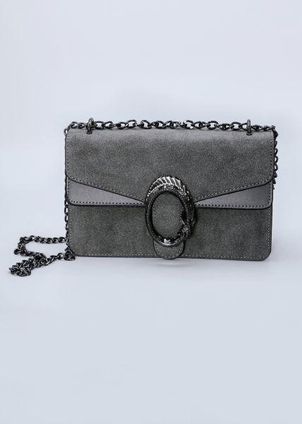 Velvet-Bag, grau