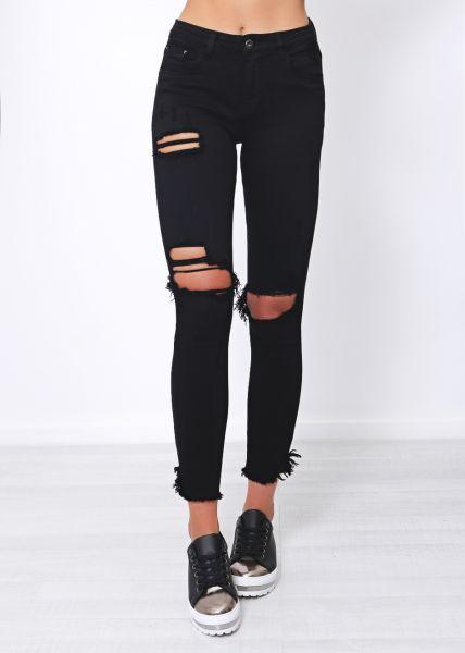 Midwaist Jeans, schwarz