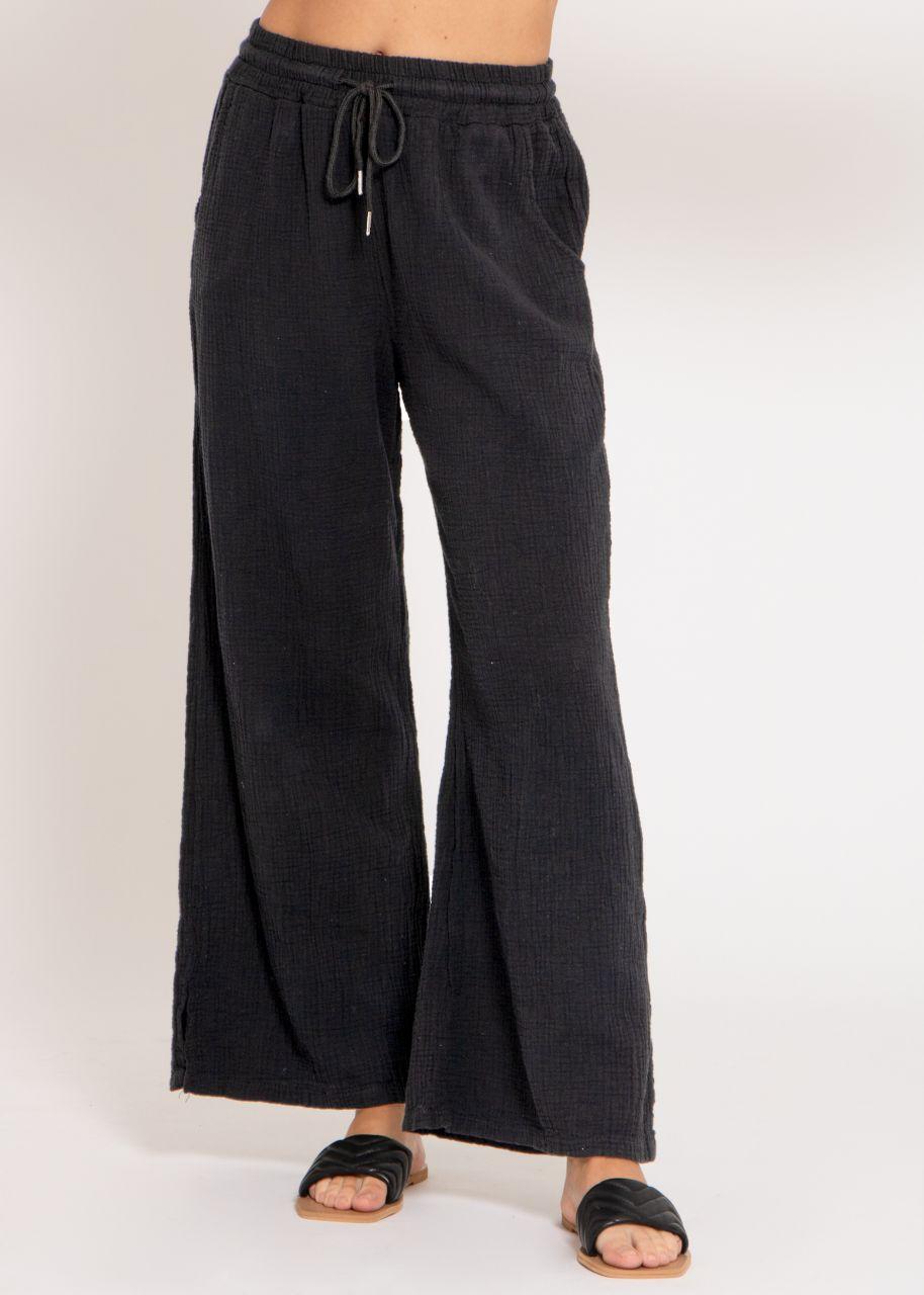 Musselin Pants, schwarz