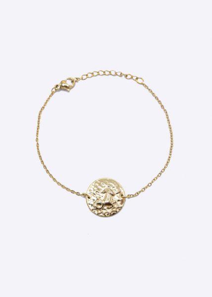 Armkette mit Sternzeichen Steinbock, gold