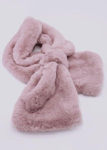Fake-Fur Schal, rosa