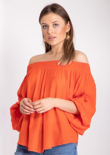 Lässige Carmenbluse, orange