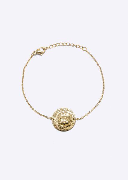 Armkette mit Sternzeichen Krebs, gold