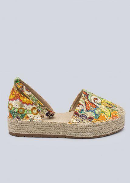 Espadrilles-Sandalen mit Print