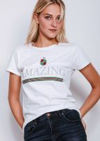 "T-Shirt ""AMAZING"", weiß"