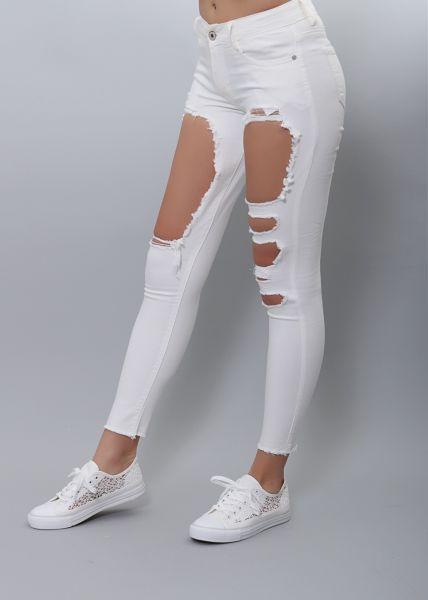 Super Skinny Jeans, weiß