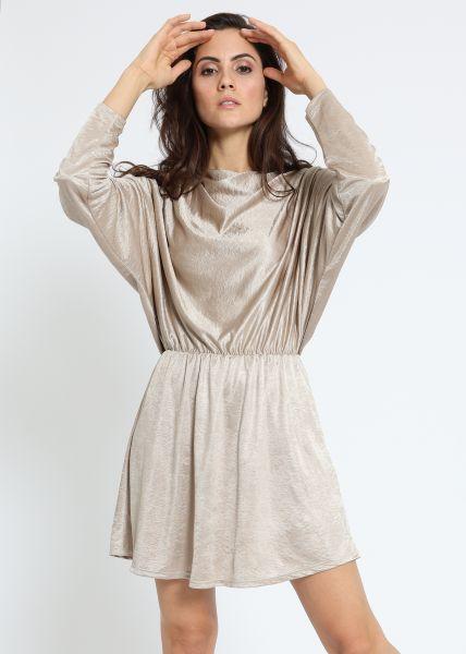 Mini Jersey-Kleid, champagne