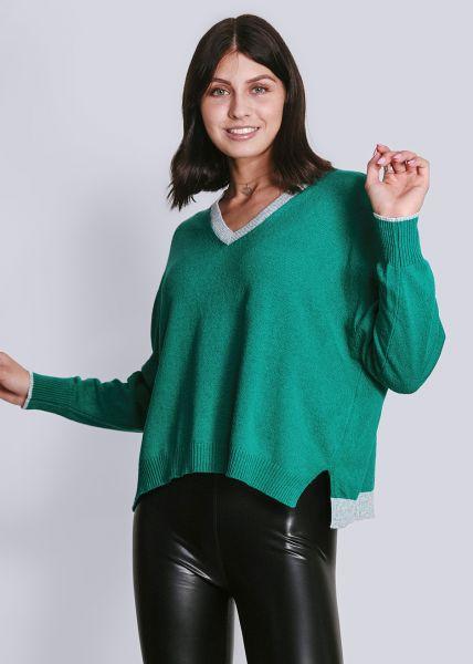 Pullover mit Cashmere, grün