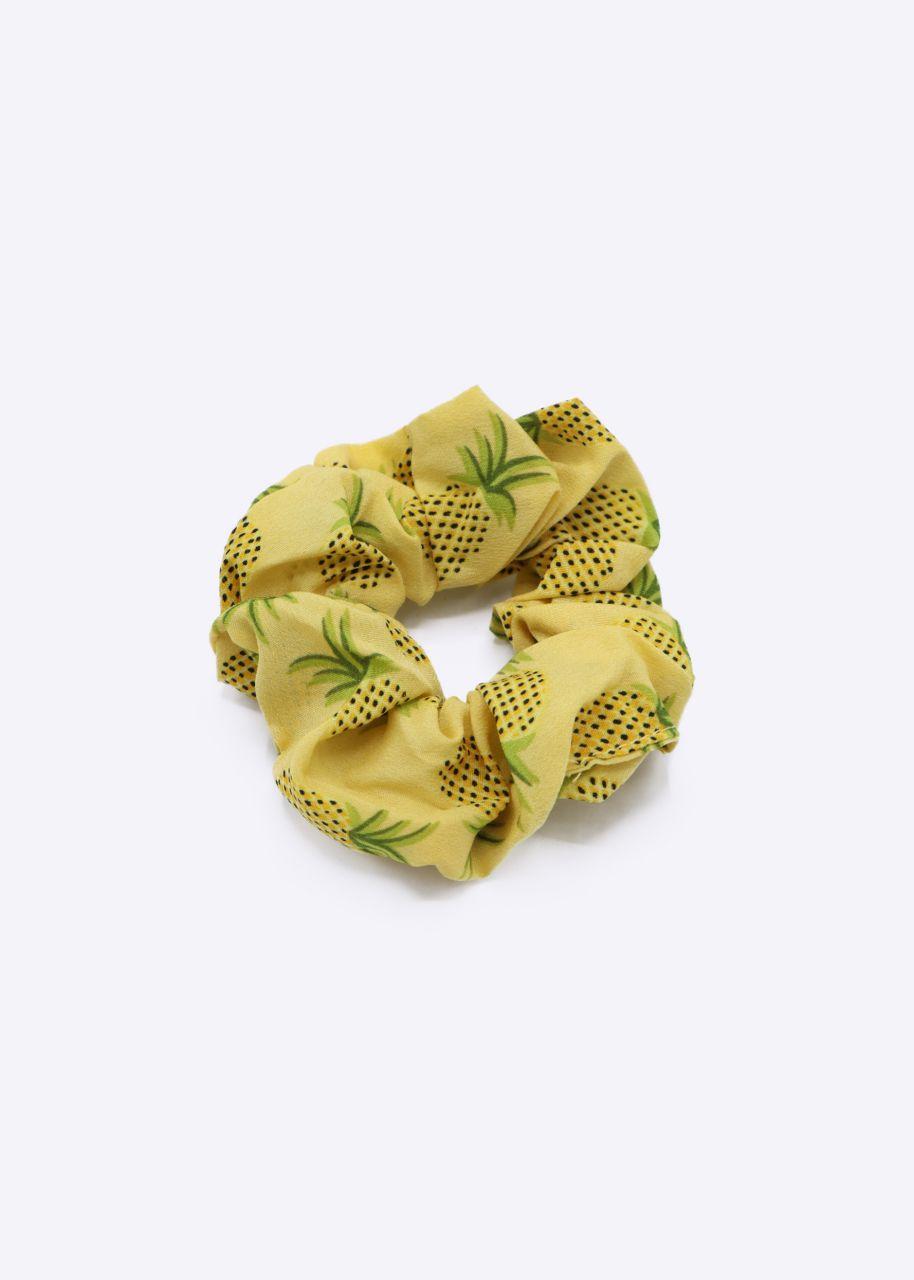 Scrunchie mit Ananas-Print, gelb