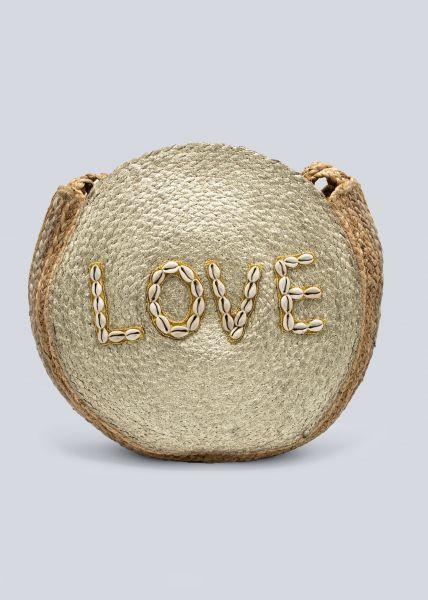 """Große """"LOVE"""" Bag, beige/gold"""