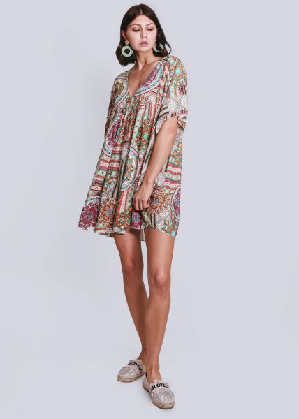 Hängerchenkleid mit buntem Print