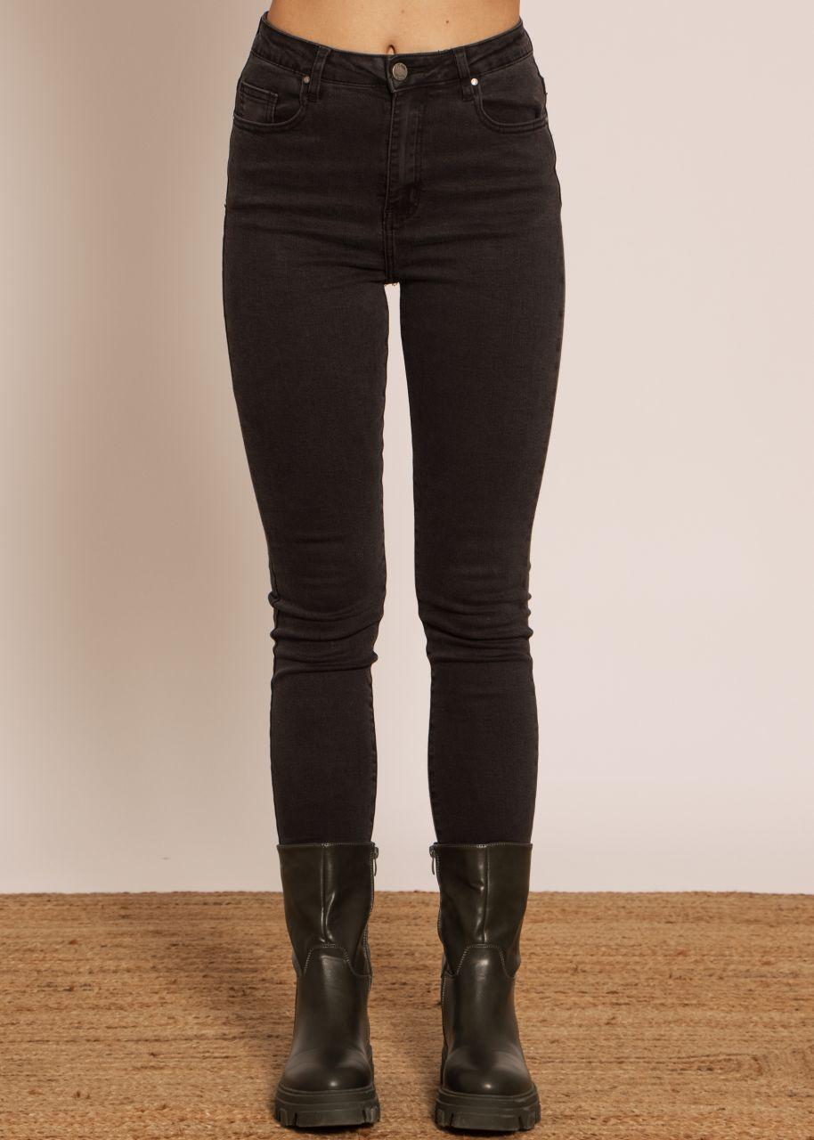 Highwaist Jeans, schwarz