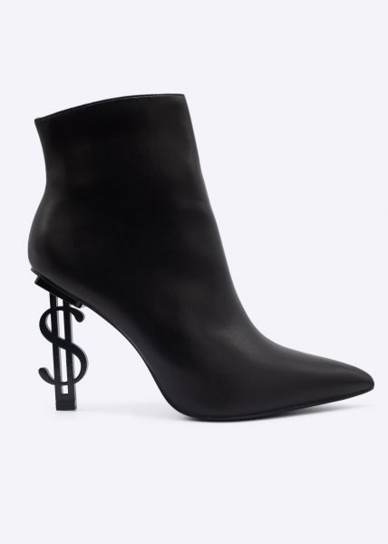 Stiefeletten mit Dollar-Absatz, schwarz