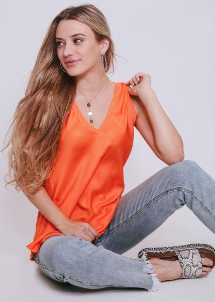 Seiden-Top, orange