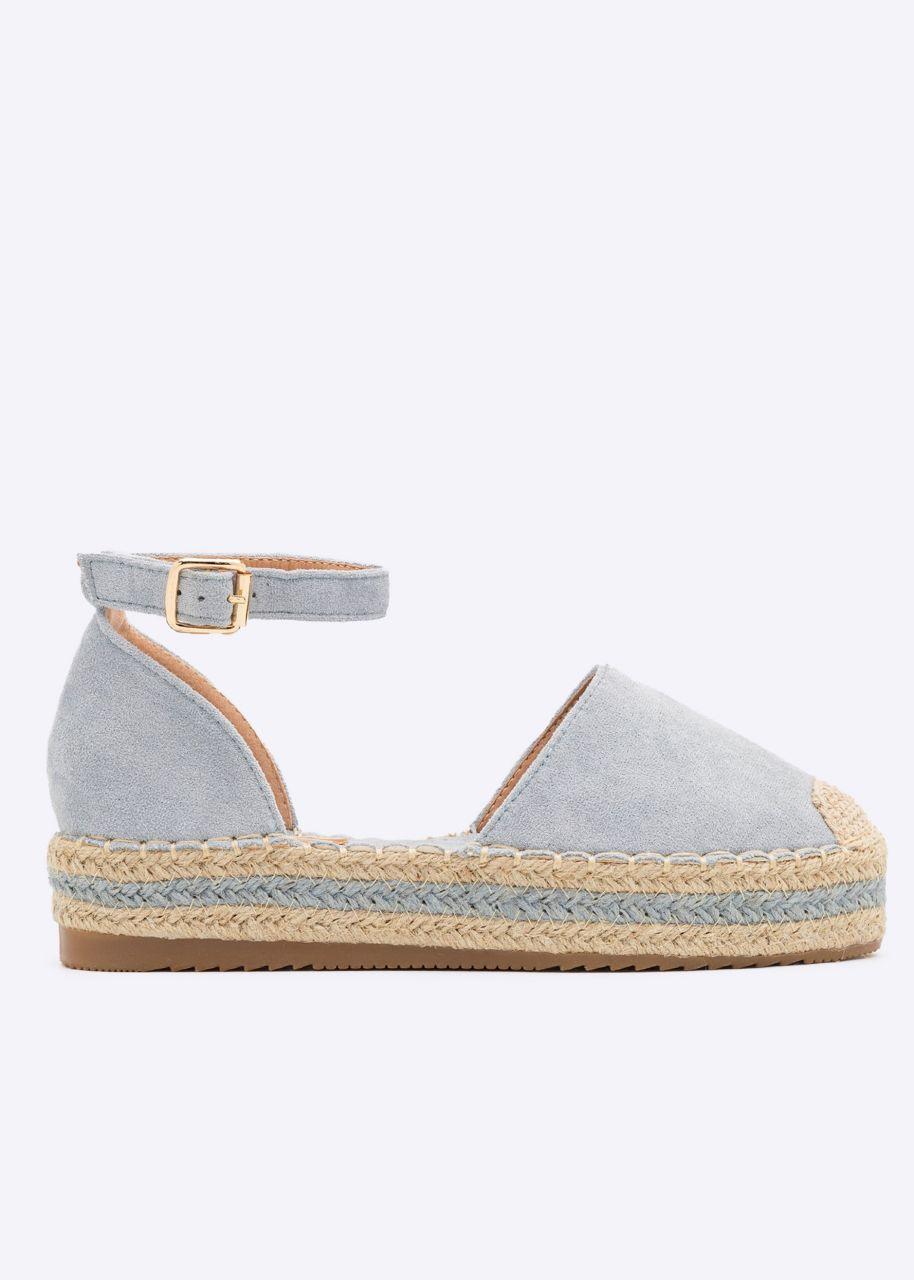 Espadrilles Sandalen, blau