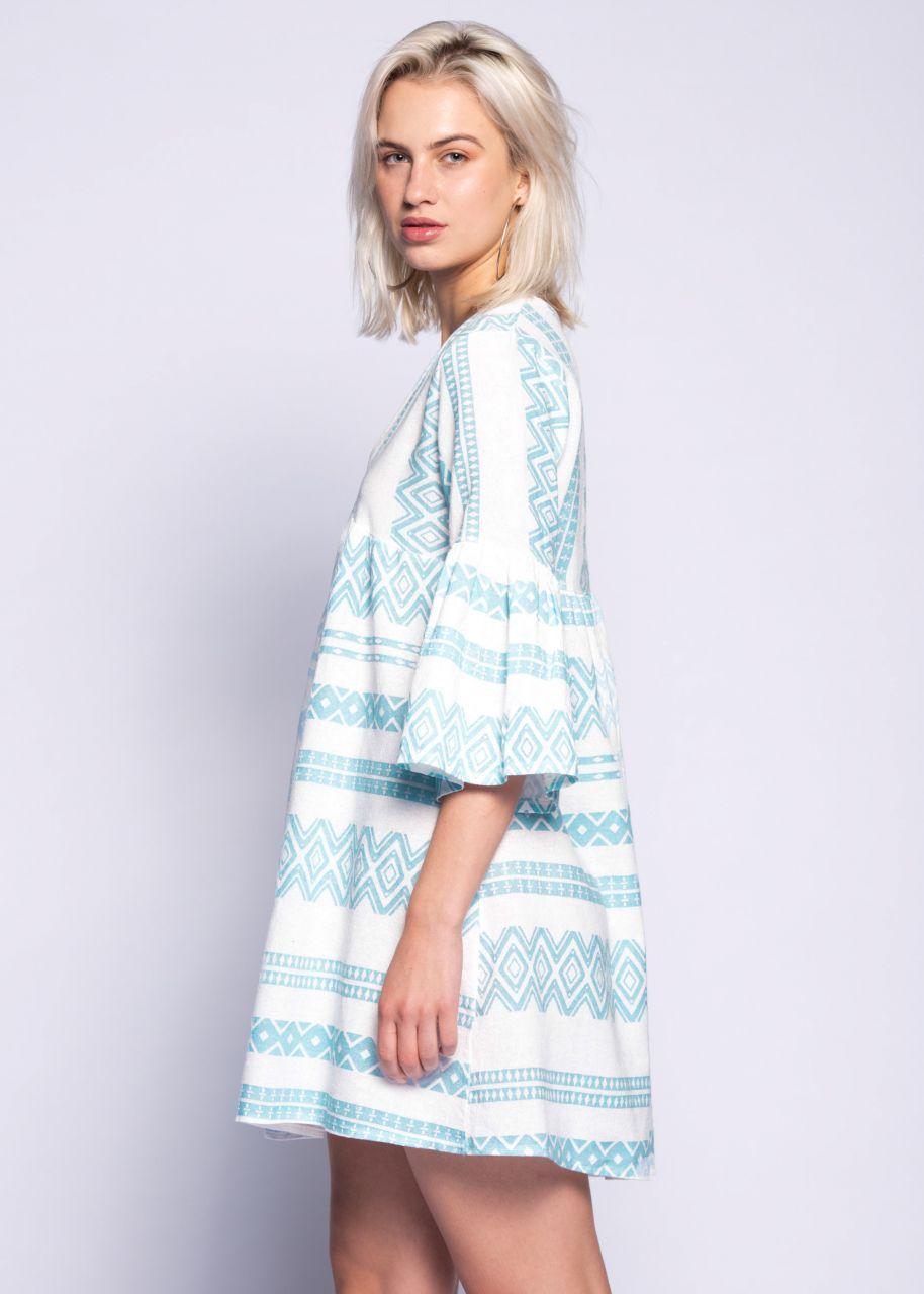 Tunikakleid mit Print, hellblau