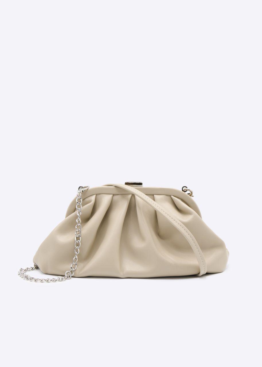 Slouchy Mini-Tasche, beige