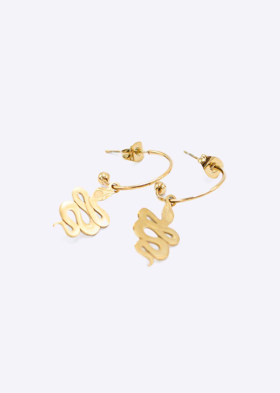 Mini-Creolen mit Schlange, gold