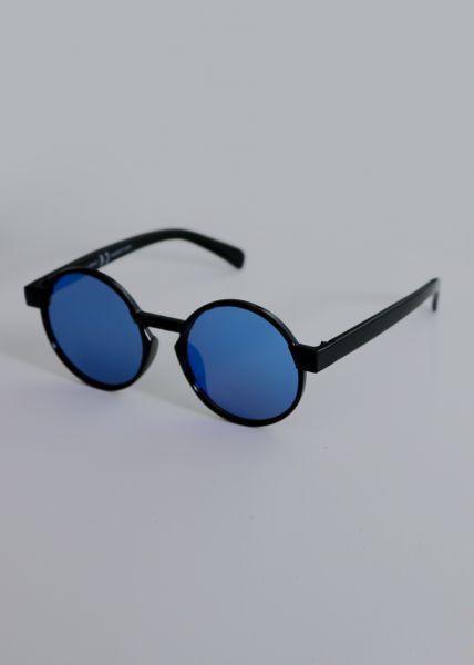 Runde Sonnenbrille, schwarz