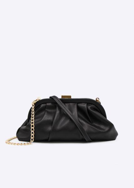 Slouchy Mini-Tasche, schwarz