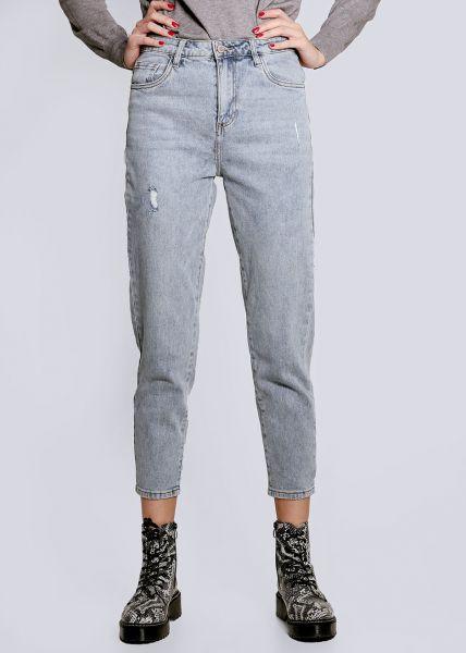 Helle Mom-Jeans, blau