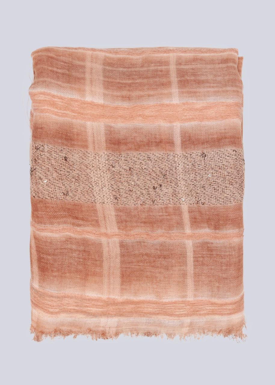 Feiner Schal, rosa