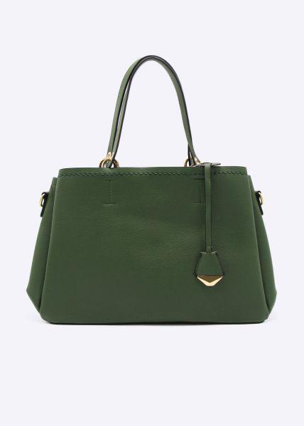 Umhängetasche mit kleiner Tasche, grün