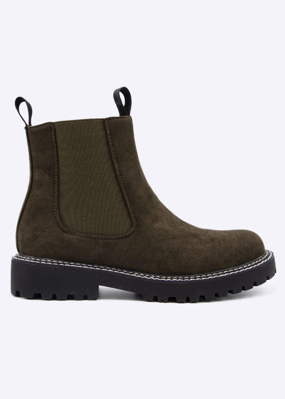Chelsea-Boots, khaki