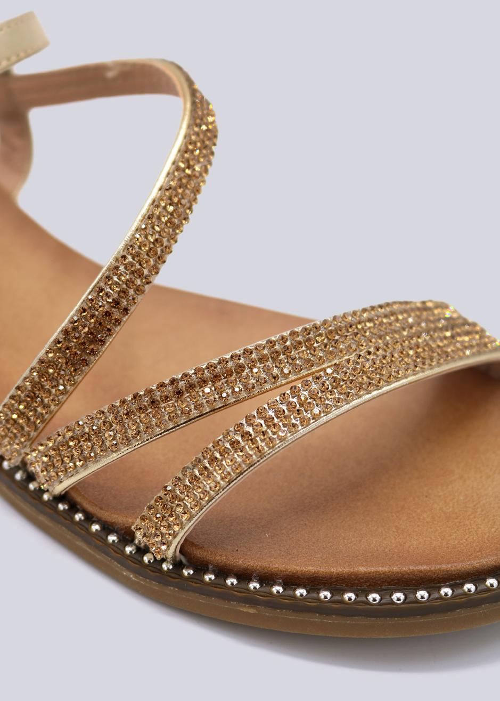 sandalen mit glitzersteinchen gold schuhe sale sassyclassy