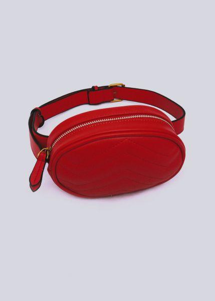 Gesteppte Gürteltasche / Tasche, rot