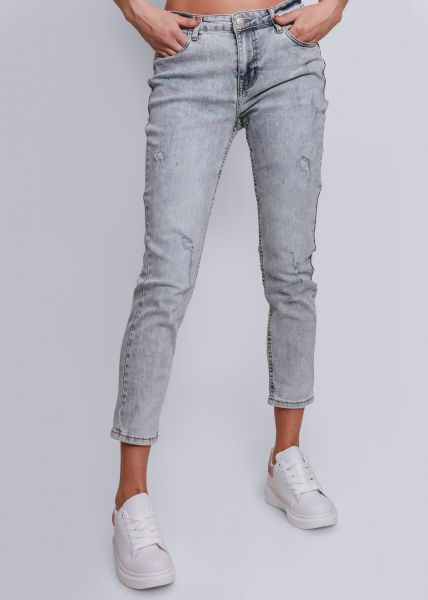 Helle Jeans, leicht destroyed